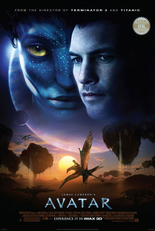 "Avatar (2009) A paraplegic marine dispatched to the moon Pandora on a unique mission  becomes torn between following his orders and protecting the world he  feels is his home. I was in the mood for a comedy. ""Oh my gawd, why can't real life be like in 3d yeah?"" After all the smoke from the hype settled i decided to watch this acclaimed ""masterpiece"" (again?!? i surprise myself sometimes). Star Trek (2009), District 9 (2009) and Moon (2009) dominated the sci-fi action adventure films of 2009. Avatar - It's a Titanic for kids  ""on an alien planet"" . With that being said, This modern day FernGully: The Last Rainforest (1992) meets Pocahontas (1995) had a great environmental message, Garbled by fancy computer graphics and a strong marketing arm.  Over all i must say this was the visual feast it was expected to be. Brilliant CGI work, the creatures were animated well and the production was superb. The acting was decent. Michelle Rodriguez has balls, literally.  Sigourney Weaver in a sci-fi = gold. Sam Worthington genuinely has that ""douche"" look down to a science. I have yet to warm up to that annoying face. War machine ""kill, kill, kill"" Stephen Lang was tremendously entertaining to watch. And Giovanni Ribisi, though portraying a mere speck of dust, was nice to see. When the ""oohs"" and ""aahs"" are over and done… In the end, it's an family film that was made for 3D. I have given this a third chance and i stand my ground. This was all hype. It's good but not great."