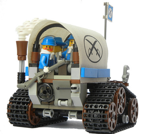 legozz:  Light Steam Transport Vehicle Mk. LXI (by Ɍaillery)