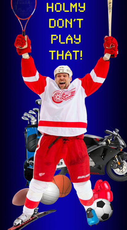"New reality show pitch: In hockey's version of ""Shaq Vs."", Detroit Red Wings forward Tomas Holmstrom takes on today's top athletes at their own games. The twist? The pros have to play with a handicap of some sort. Check out ""Holmy Don't Play That!"" this fall on NHL Network!"