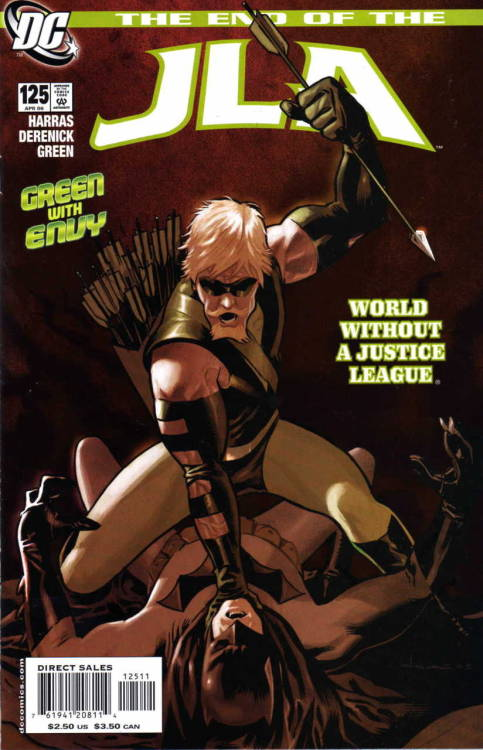 evilhorse:  JLA #125, April 2006.  Cover by Daniel Acuna.