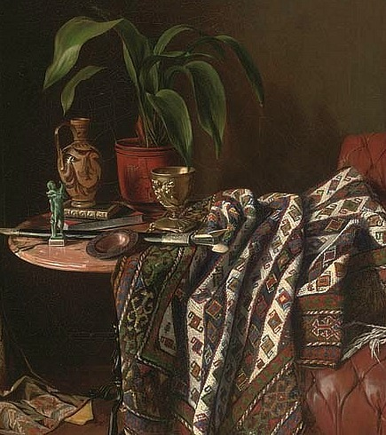 stilllifequickheart:  Eduard Charlemont Souvenirs of the Tour, detail 19th century