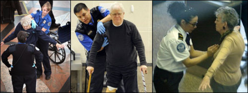 12onpaul:  TSA detains 95-year-old wheelchair-bound woman for 45 minutes, asks her to remove her adult diaper)  So who's worse: Al Qaeda or the TSA?