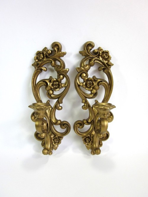 Gold Sconces (for my future apartment), Atty's Vintage.