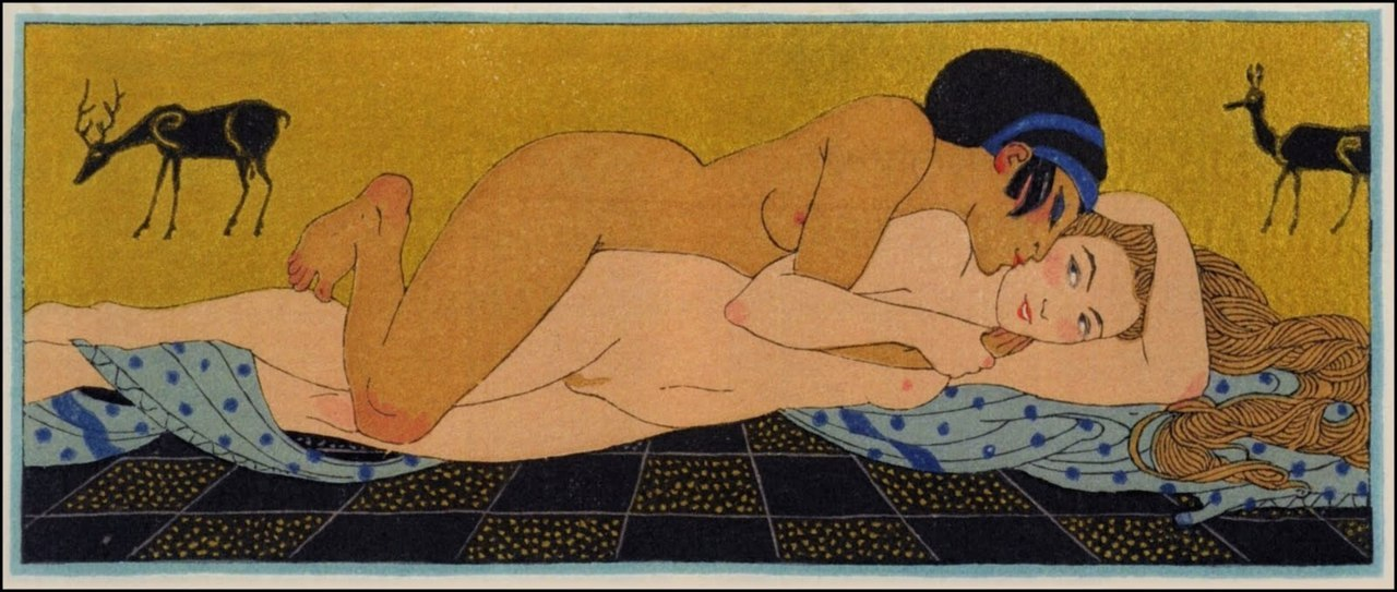 Les Chansons de Bilits 7 Illustration by Georges Barbier