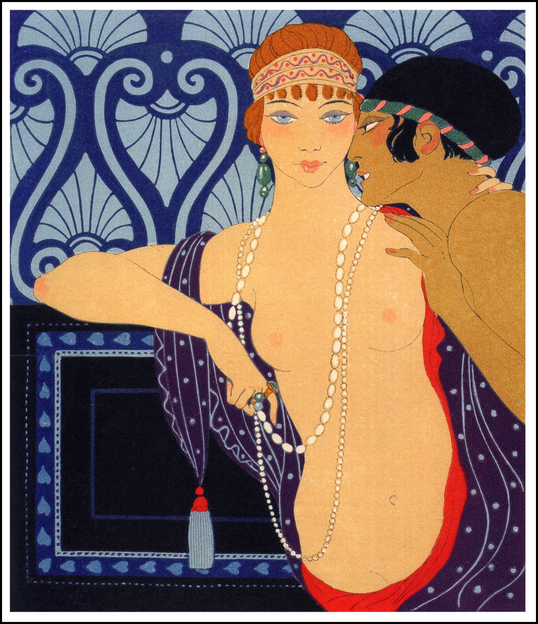 Les Chansons de Bilitis 6 Illustration by Georges Barbier
