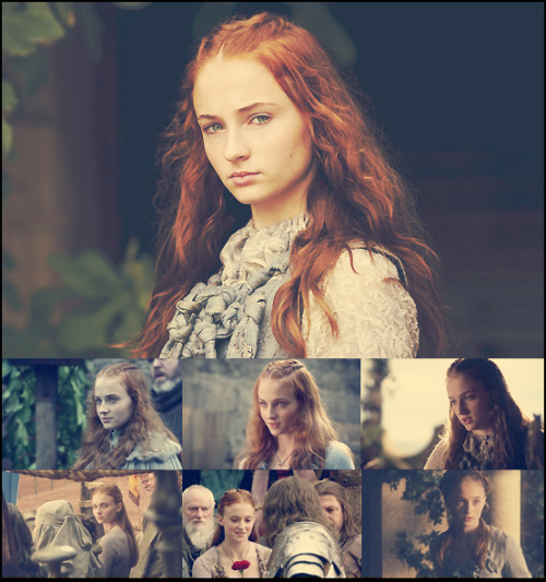 Game of Thrones - My Favorite Characters   01. Sansa Stark (portrayed by Sophie Turner) 6 favorite caps. 1 per episode