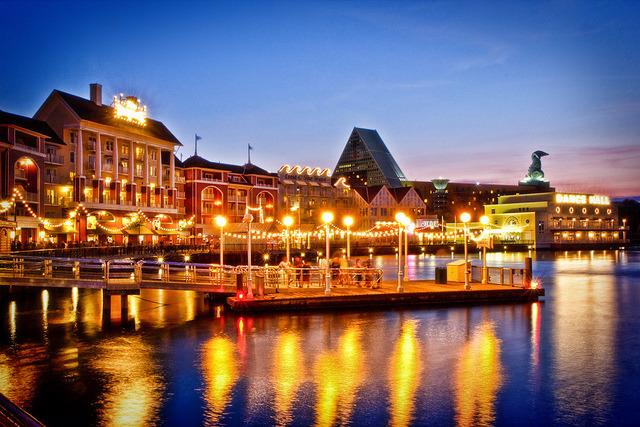Dusk Falls on Disney's Boardwalk by Samantha Decker