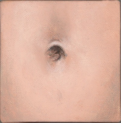 navel in oil pastel 4×4