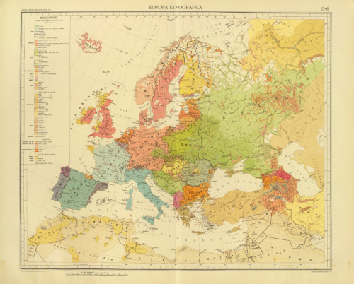 Unknown, 1929, Ethnographical Map of Europe