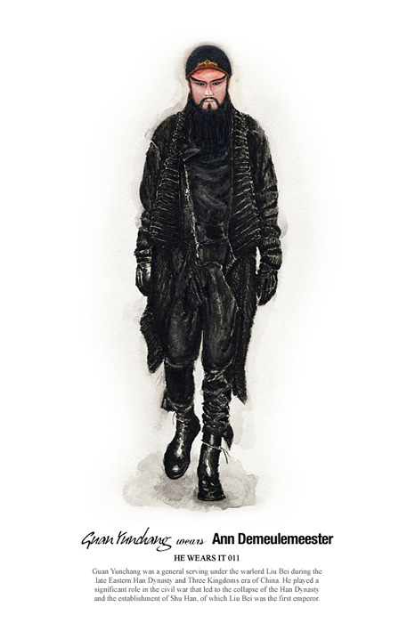 He Wears It #11 Guan Yunchang in Ann Demeulemeester John Woo