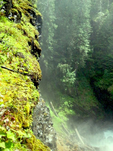 Mist at Lady Falls, British Columbia