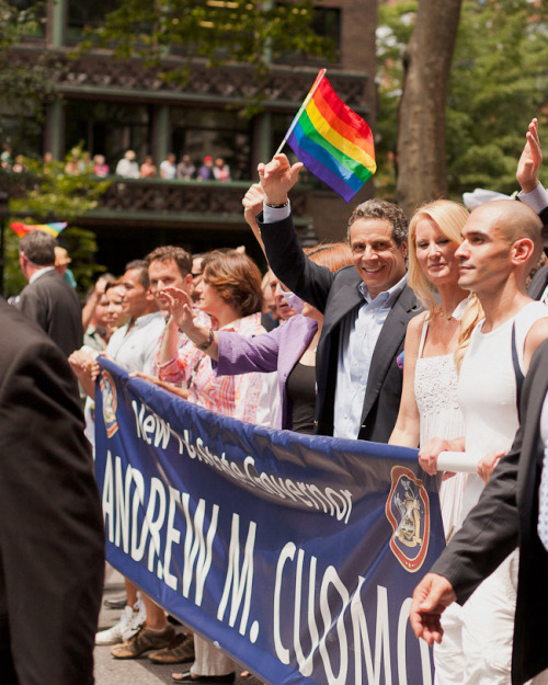 Governor Andrew Cuomo at the 2011 NYC Pride Parade.
