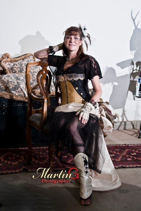 Miss Cleo-Katra Today's Steampunk beauty submitted by Cleo-Katra herself.