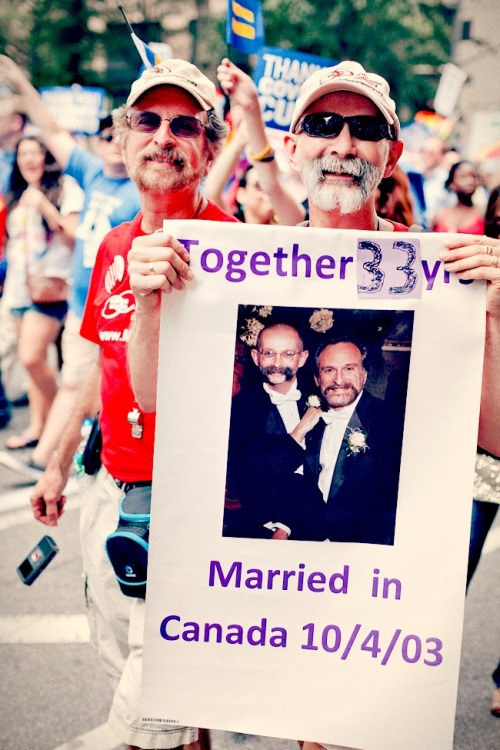 Together 33 Years. NYC Pride Parade 2011.
