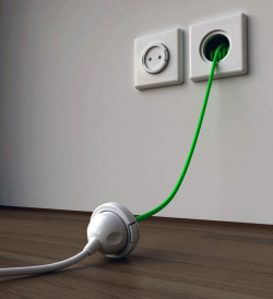 Awesome!!  gregmelander:  WALL EXTENSION CORD  Sometimes the best innovations aren't making something completely new…Rather just improving on an existing idea. (See more shots here by Meysam Movahedi