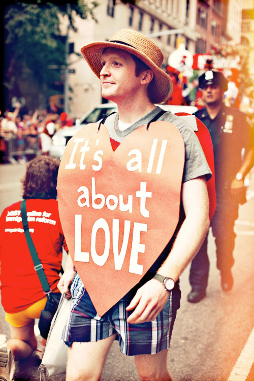 It's All About Love. NYC Pride Parade 2011.