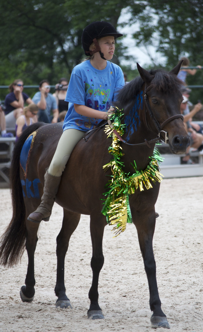 Member of the Somerset Hills Pony Club riding at the USET headquarters.