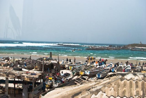 Good things come to those who bait.  Fisherman's traditional bay, Yoff, Dakar, Senegal.