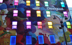 outside desigual on 35th st., i love the colorful artwork.  :-)