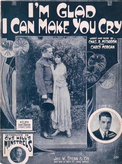 theloudestvoice:  Sheet music featuring Alice Joyce and Evart Overton, c. 1918