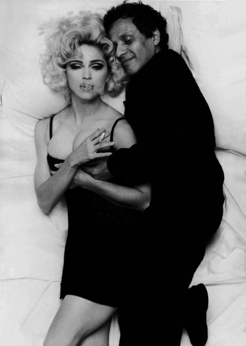 Madonna and Azzedine Alaïa by Steven Meisel (the picture was part of a photoshoot for Vogue Italia February 1991 issue).
