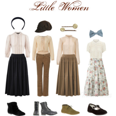 broadwaydressingroom:  Little Women by broadwaydressingroom featuring cotton blousesJ by Jasper Conran pintucked blouse, £27Kookai cotton blouse, £20Oasis peasant top, £30Turtleneck top, £25Gathered skirt, $43Uniqlo flared skirt, £30Uniqlo flared skirt, £30Dickins & Jones straight leg corduroy pants, £28ALDO leather booties, $23Lace up boots, $40ASOS lace up bootie, $48Baker boy hat, $25American Apparel hair bow accessory, $14Hair pins accessory, $12American Apparel headbands hair accessory, $8Primigi Kids' Letly Mary Jane, $32