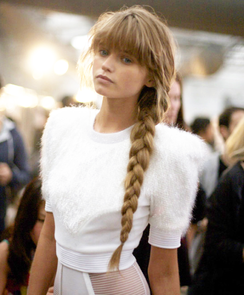 abbey lee… she looked the best at a.wang s/s 10. seriously. ♥