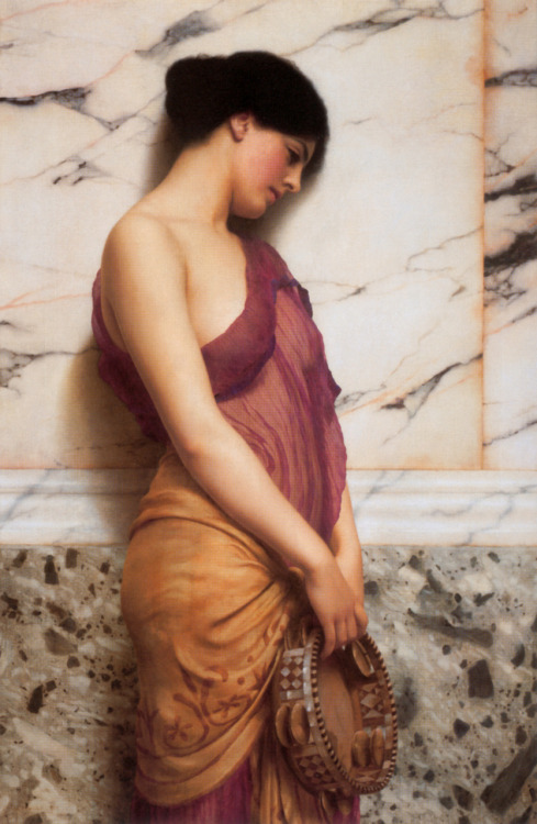 John William Godward - The Tambourine Girl, 1906