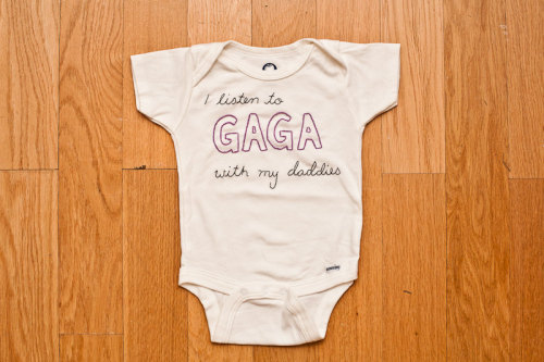 Check out this hand stitched onesie my wife made. Buy it!