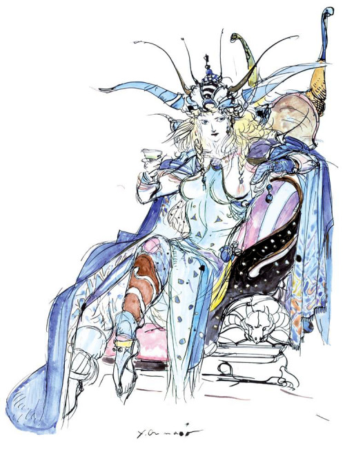 [Picture: Yoshitaka Amano's version of Princess Hilda from FF2.]