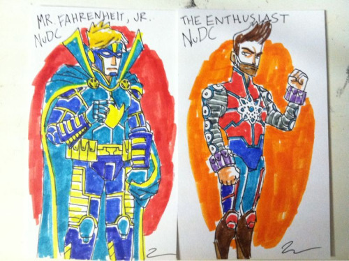 deebeemonster:  It's the NuDC version of Mr. Fahrenheit, Jr. and The Enthusiast! They're the brainchildren of the hilarious team over at letsbefriendsagain.com If you're not reading this on the regular, you're a Chumpasauraus Rex! And catch The Enthusiast on his tumblr - chrishaley.tumblr.com