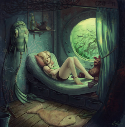 melhoneycat:  Fishgirl's Berth by Carolyn LaPlante