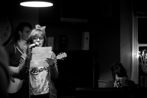 An open mic night that CloudCat runs at the Amble Inn.