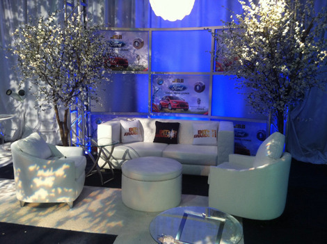 "The social media lounge at the BET Awards, which called itself the ""most social TV awards show ever.""  Sponsor Ford gave away a new car during the show via a secret Twitter hashtag."