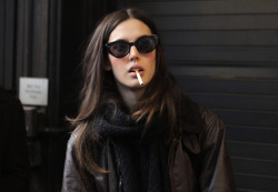thatkindofwoman:  My alter ego. Never would I light that cig, though. I suppose thats the point of the alter ego. They do things that you wouldn't do. Like part my hair down the middle. Bad look for me.