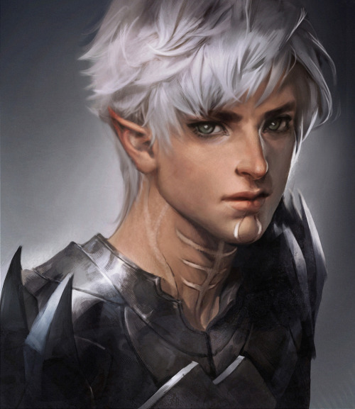 sakimichan:  Love fenris, one of my fav character from dragon age 2 >w< I tried ._. wish I drew him better though : (  Fenris, Dragon Age 2