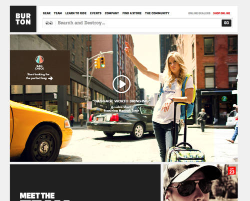 Particularly well designed e-commerce site for Burton Snowboards (via(@brightblueday)