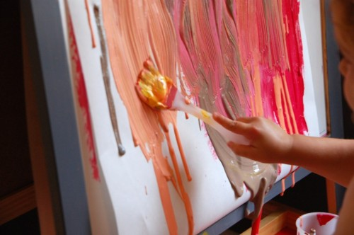 teachpreschool:  (via Drippy Painting | TinkerLab)