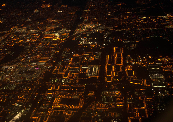 Operation Window Seat - PIT-LAX LA looks like circuit board city at sunset…