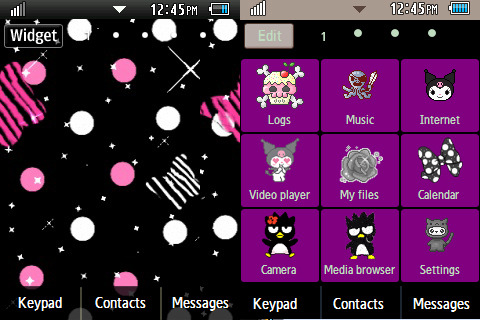 Purple/Black Emo (?) Theme  DOWNLOAD: http://www.mediafire.com/?7e9ikvbc8byusks PASSWORD: yaptus  I'm back making themes, hello 128 followers and co-corbyii users :)