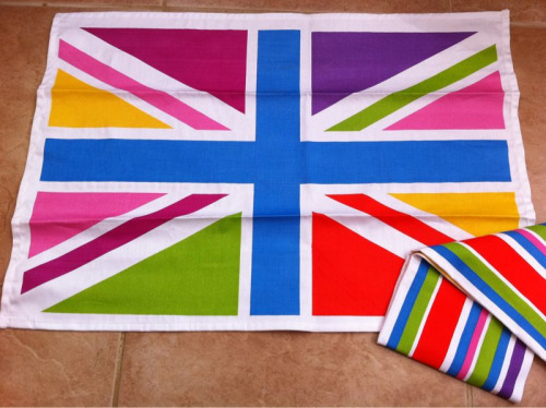 Funky tea towels for the flat (pack 1)