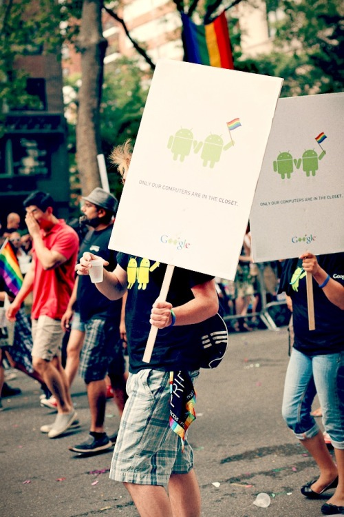 I thought these Google posters were awesome. NYC Pride Parade 2011.