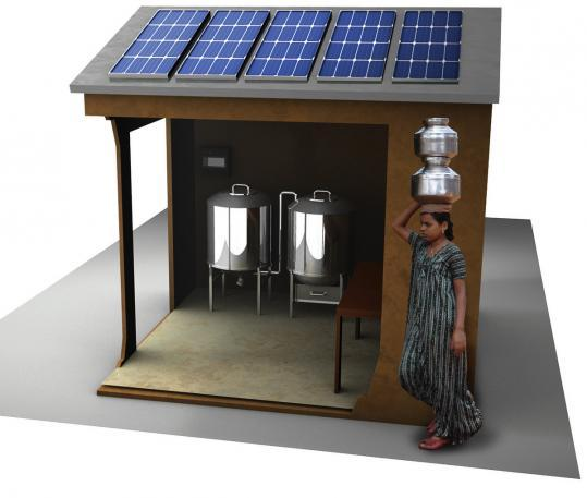 Milk storage unit uses sun to keep cool - Got chilled milk? That's the unofficial slogan for Boston-based Promethean Power Systems, a company that this month received a grant from the National Science Foundation to further develop its innovative milk refrigeration system.