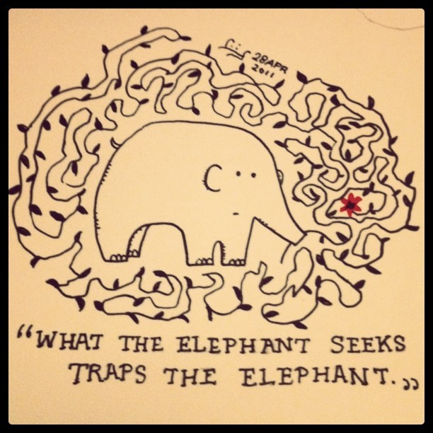 the Elephant and the Flower
