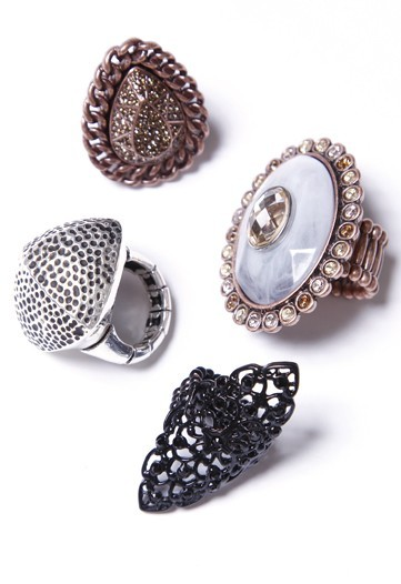 Heidi Klum designed these fancy rings for QVC.