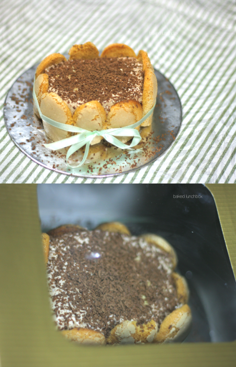 "My earlier post on Tiramisu was good, that was my first time making it. My second time was more consistent and more put-together, if I must say. But this time, the third one was soo much better! I even tried to decorate it which i never got the chance to on the first two batches.  For those who don't eat eggs because you're afraid of high-cholesterol, this one's for you! (original Italian Tiramisu is made out of egg yolks) Plus, it is low in sugar, this one is also for you weight-watchers out there! And it's also made out of real quality Irish Creme so you'll take each bite like it's your last! Enjoy the real ""pick-me-up"" in this tasty, non-fattening, yet delicious little pastry you'll ever have! Order now!"