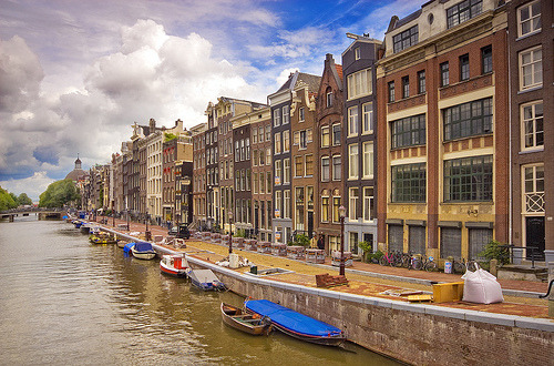 allthingseurope:  Amsterdam houses (by Matilde B.)  miss this place everyday.