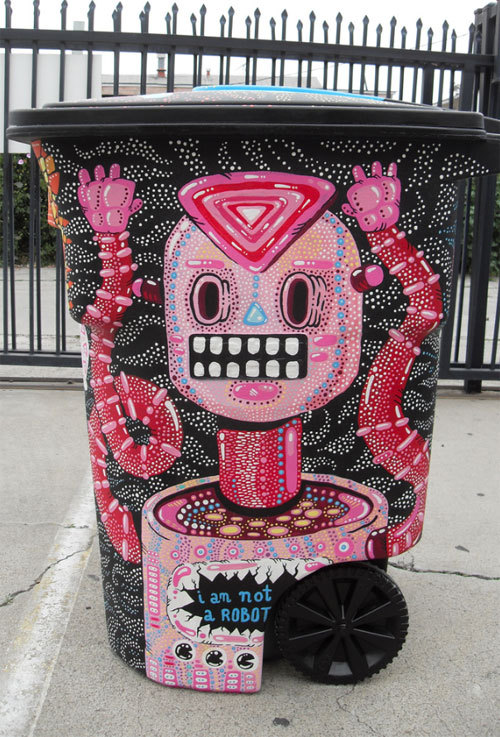 laughingsquid:  Trash Can Art by Jacob Livengood  I WOULD LIKE A TRASH CAN LIKE THIS SOME DAY