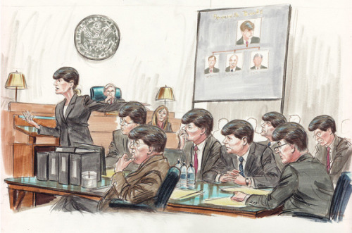 Blago's defense team whips out their sympathy hairpieces.  This is priceless.