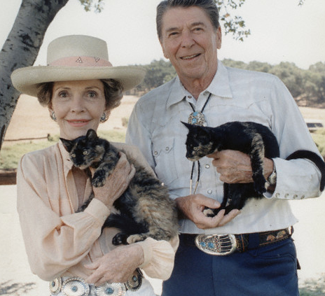nancy + ronald reagan